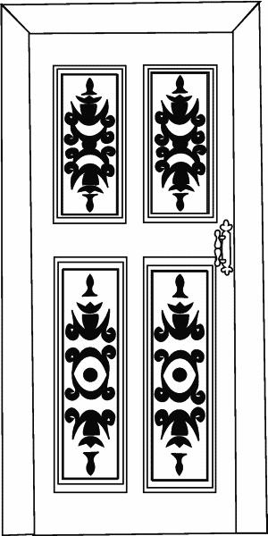 Двери с накладной резьбой