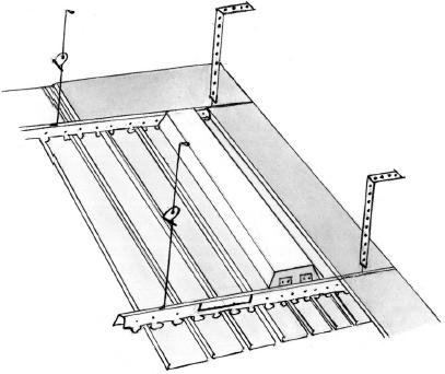Рис. 35.  Устройство реечного подвесного потолка.  В основном в продаже бывают рейки длиной 3 и 4 м.