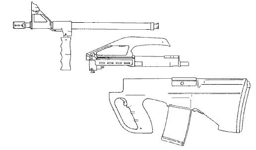 Рисунок прототипа винтовки AUG