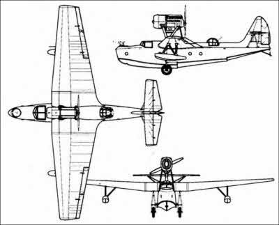 Схема самолета МБР-2 с