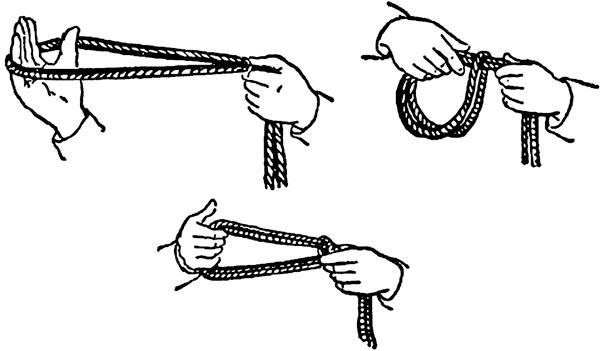 Как связать человека одной веревкой