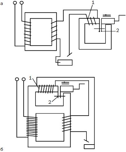 Схема зажигания сварочной дуги