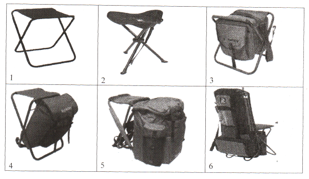 Нести за плечами стул-рюкзак при дальних переходах гораздо удобнее...  Рис.15.  Современные рыболовные стульчики: 1...
