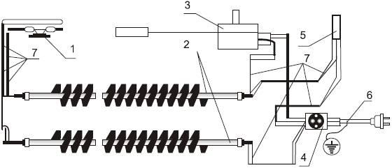 Электрическая схема конвектора