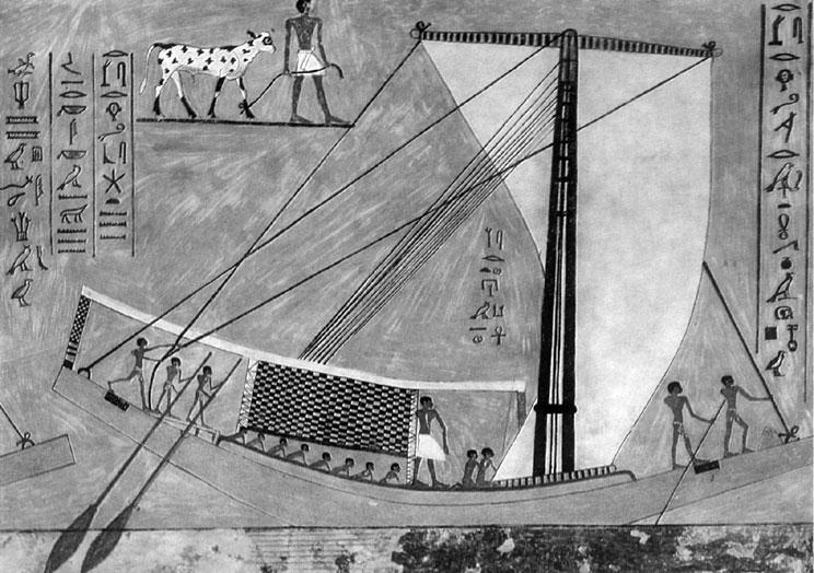 в древнем египте лодки