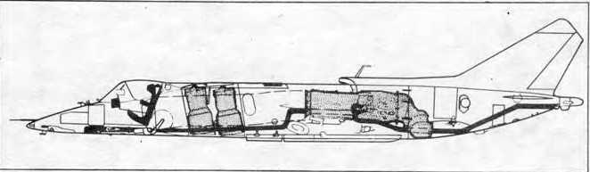 Принципиальная компоновочная схема самолета Як-38.