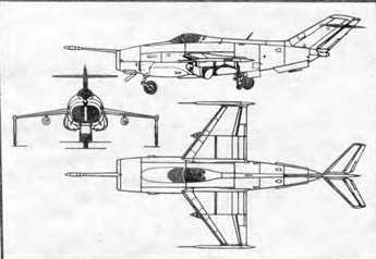 Самолет вертикального взлета и посадки Як-38.