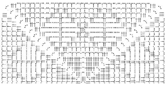 схема вязания; в – схема