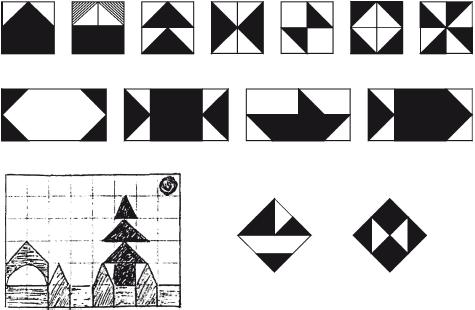 Образцы заданий «Сложи фигуру». на панели со штырьками (кубики наряду со