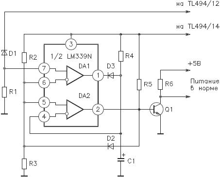 Схема формирования сигнала «