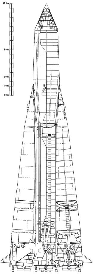 """В марте 1957 года начался выбор и определение параметров траектории активного участка первой  """"космической """" ракеты."""
