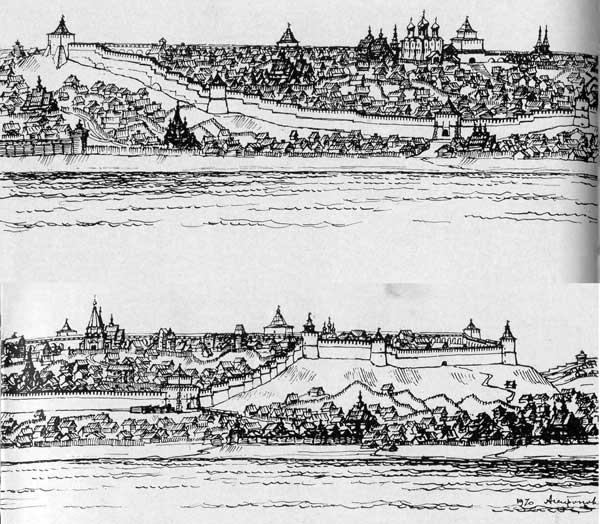 Нижегородский кремль в XVII в.