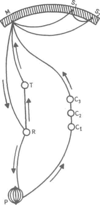Внимание...  Рис. 22.  Схема физиологического процесса, объясняющего усиление произвольного внимания при припоминании...
