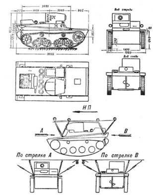 корпус танка Т-37А и схема