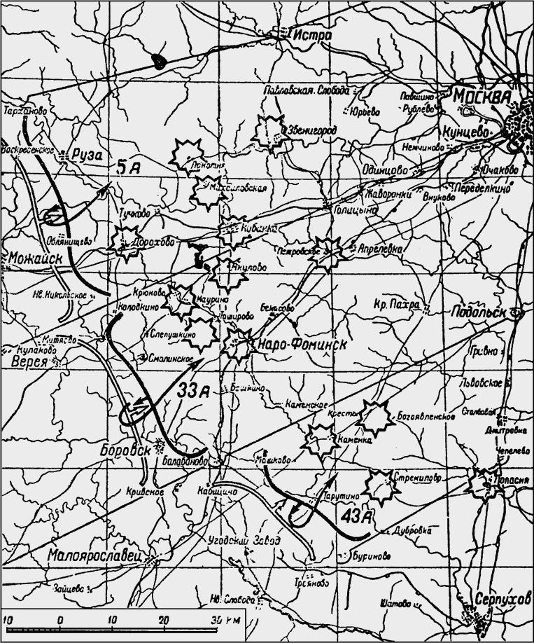 Схема 8 Противотанковые районы