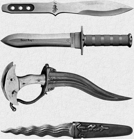 и короткий широкий нож