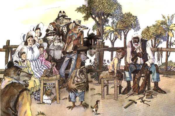Раскраска Сказки Дядюшки Римуса