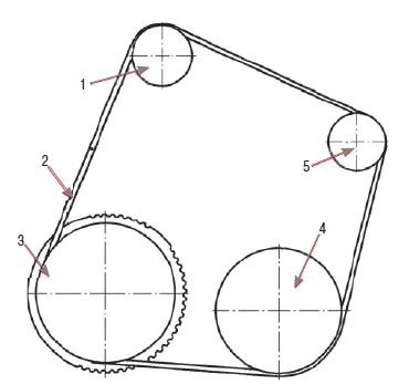Схема установки и натяжки