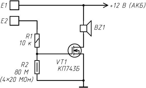 Электрическая схема сенсорного