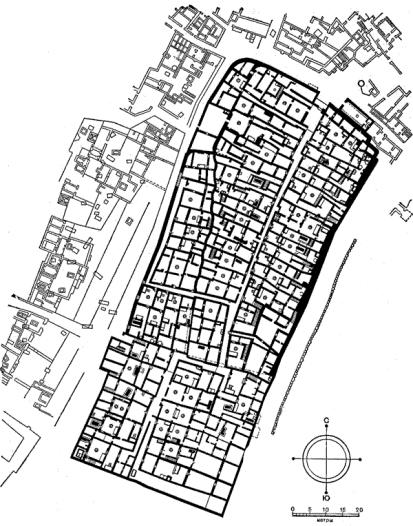 План городка ремесленников на