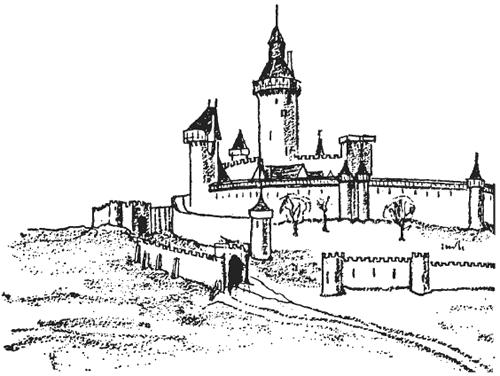 Замок Лузиньян во Франции.