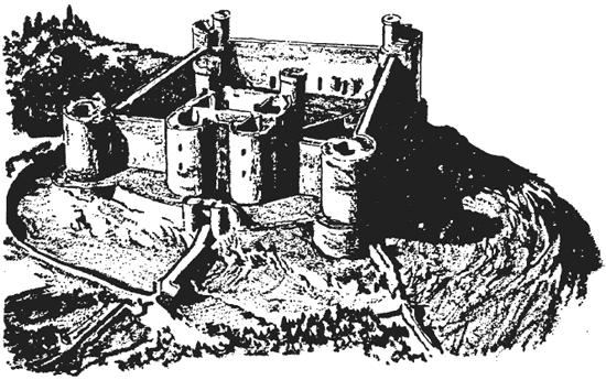 Вид замка Гарлек с высоты