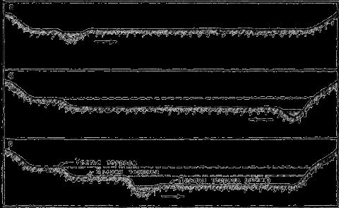 В широком и длинном лотке был...  Рис.6. Схема образования террас.