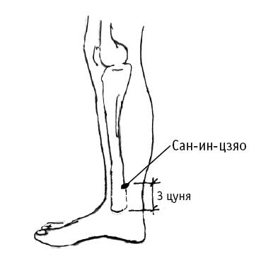 Точка выше внутреннего голеностопного сустава на 4 пальца помогает ли отвар из вареной картошки от болезней суставов