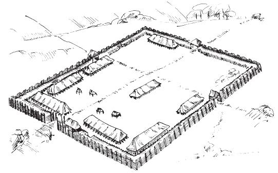 была маленькой крепостью,