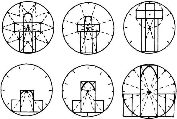 средневековых храмов (по