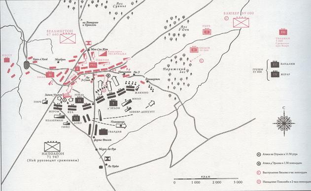 фаза сражения при Ватерлоо