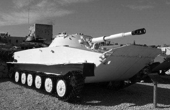 Трофейный советский танк пт 76 в