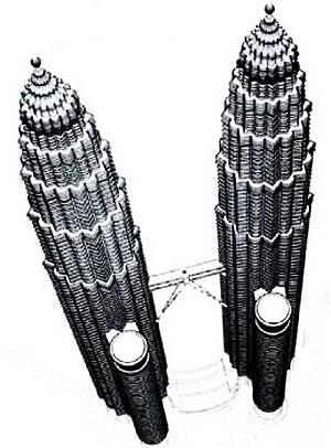 башни-близнецы высотой в