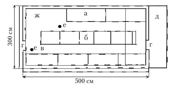 Схема расположения вольер и