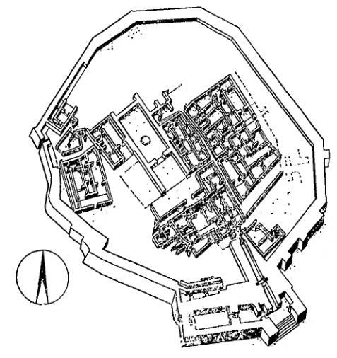 плана цитадели Трои II.