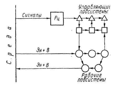 Схема сложной системы: Рц
