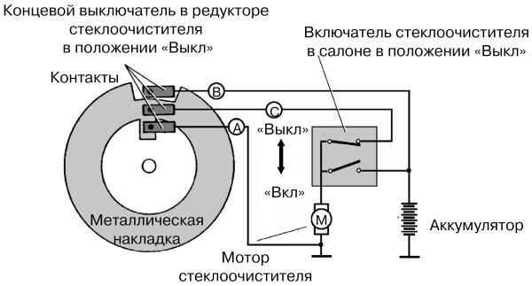 Схема концевого переключателя
