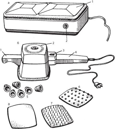 Массажные аппараты: а – общий