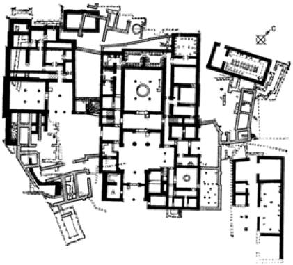План дворца в Пилосе