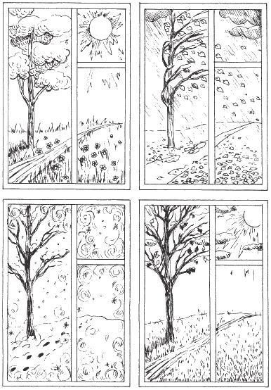 Раскраски на времена года