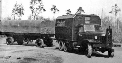 Опытный автомобиль ЗИЛ-157Э с электромоторами в ступицах задних колес.  1964 год.