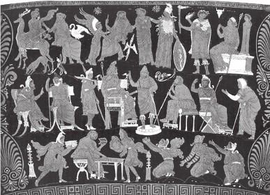 Сцены из жизни богов олимпийцев