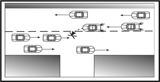 1 сигнал левого поворота.