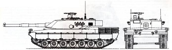 Схема танка С-1 «Ариете»
