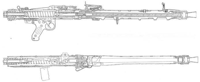 Пулемет MG.42 со сложенной