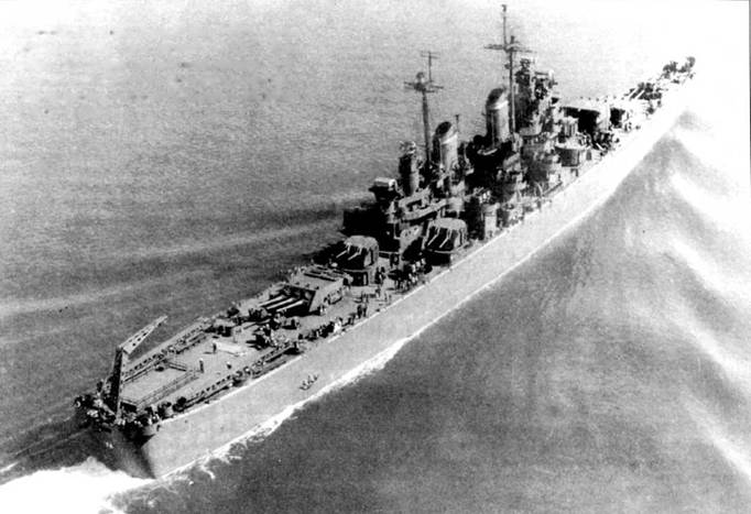 Крейсер окрашен по схеме
