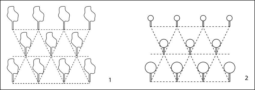Шахматная схема посадки
