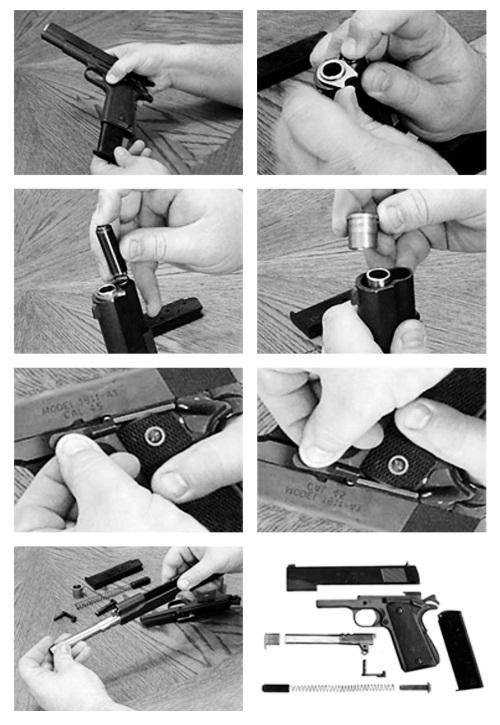 разборка пистолета Кольт