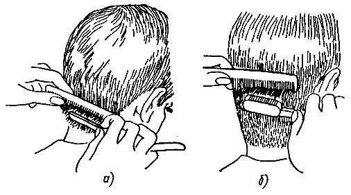 Сведение волос на нет бритвой: