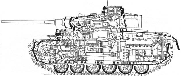 схема среднего танка Pz
